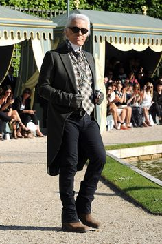 Karl Lagerfeld at Chanel Cruise 2013
