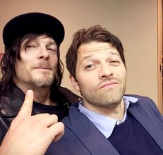 Norman Reedus and Misha Collins.  This needed to happen and has enhanced my life 110%