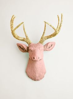 Faux Deer Head  The Josephina  Cameo Pink W/ by WhiteFauxTaxidermy, $129.99