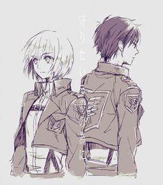 Armin Arlert & Eren Jaeger (Shingeki no Kyojin, Attack on Titan)