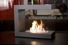 brasa ventless fireplace modern bio-ethanol inside Metal Fireplace, Bioethanol Fireplace, Freestanding Fireplace, Home Fireplace, Fireplace Design, Fireplace Modern, Floating Fireplace, Fireplace Screens, Portable Fireplace