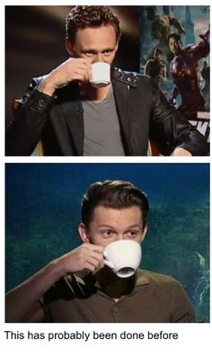 Fandom Posts by @Southern Snowflake So I looked everywhere for this and couldn't find it??? #tomhdrinkinghiscaffiene #tom #tommy #tea #coffee #pfft #brits #cuties #british