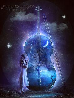 Creativity unlocks your dreams, leading to inspiration, intention, and magick. Get creative. - Jasmeine Moonsong original artwork by: Summer Dreams Art Art Manga, Anime Art, Music Drawings, Art Drawings, Dream Art, Summer Dream, Belle Photo, Dark Art, Magick