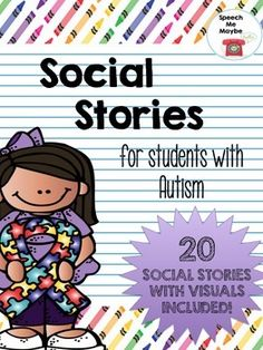 Social stories can be a great tool for children with Autism Spectrum Disorder. They can be used to teach developmentally appropriate behaviors associated with various social situations. Typically, social stories are paired with visuals which I have provided.