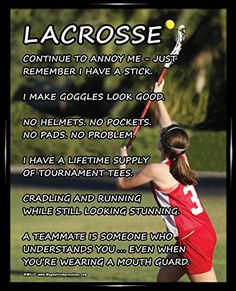 """Framed Lacrosse Girl on Field 8"""" x 10"""" Sport Poster Print Poster Prints by Magnetic Impressions http://www.amazon.com/dp/B00P9R901Y/ref=cm_sw_r_pi_dp_d7ZHub0HEWK14"""