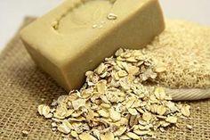 How to Make Oatmeal Soap    8 ounces palm oil  6 ounces coconut oil  2 ounces olive oil  1/4 cup oatmeal  2 ounces lye  8 fluid ounces water  1/4 ounce essential oil