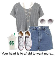 """Afraid"" by shaminhall ❤ liked on Polyvore featuring Topshop, Forever 21, Monki and Converse"