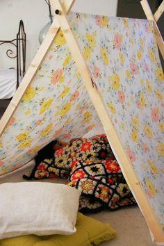 spielerische Zelte für Kinder blumen idee