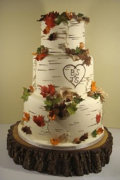 Fall Cupcake Wedding Cakes | want a wedding in the fall.