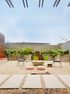 """Arizona patio /  Zero-scape / two chairs at high-noon, waiting for somebody to say """"draw!"""""""
