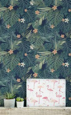 papier peint jungle tropical, un papier peint mural à grands motifs