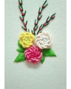 Embroidery Floss Crafts, Hand Embroidery Patterns Flowers, Basic Embroidery Stitches, Embroidery Stitches Tutorial, Embroidery Flowers Pattern, Creative Embroidery, Simple Embroidery, Hand Embroidery Designs, Creations