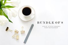 Tulips, Gold & Stripes Bundle by TwigyPosts on Creative Market