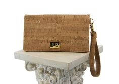 Wallet Clutch from Natural Cork. Click to see the beatiful inside lining!