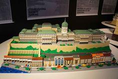 """Budapest, including the Banks of the Danube, the Buda Castle Quarter and Andrássy Avenue"" Gokayama, Buda Castle, Lego Architecture, Lego Brick, Lego Creations, Legos, Exhibit, Budapest, Banks"