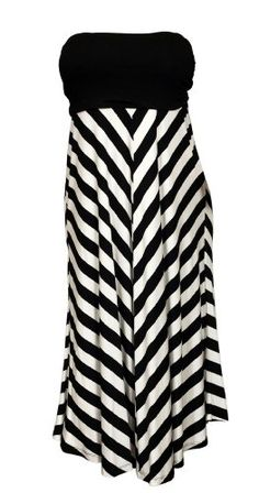 eVogues Plus size Striped Dress Skirt Black - List price: $59.99 Price: $34.99 Saving: $25.00 (42%)  #eVoguesApparel