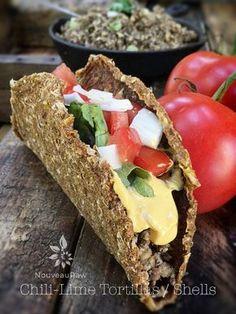 Chili-Lime Tortillas / Shells (raw, vegan, gluten-free, nut-free)