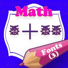 Math fonts, specially designed for teachers. You can easily create hundreds of handwriting, spelling & penmanship lessons for your students.
