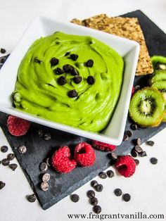 Mint Chocolate Chip Dessert Hummus - chickpeas, maple syrup (sub sugar-free syrup or another sweetener), water, spinach, vanilla extract, peppermint extract, sea salt, raw cashew/almond butter, dark chocolate chips (use sugar-free chocolate or sub cacao nibs)