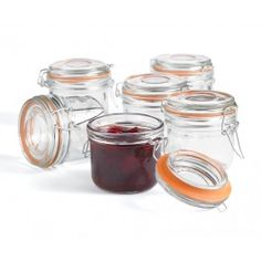 Roma Mini Canning Jars-Set of 6 - Pantry - Kitchen & Food Prep Online Kitchen Store, Love Jar, Meal Prep, Food Prep, Pots, Canning Jars, Preserves, Mini, Pantry