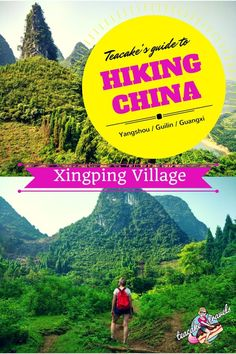 Where can I hike in Xingping Guangxi China? Teacake has two beautiful hikes for you to follow: One is short and intense! One is longer and easier. If you're near Guiling or Yangshou, let's go hiking!