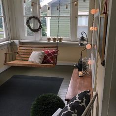 Mini makeover on my sunroom this afternoon! New rug, new pillows and a fun topiary from hedgescapes Did you notice I got my pumpkins out? Keeping the fall decor minimal this year.
