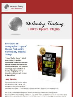 Pre-Order an autographed copy of my latest book, Higher Probability Commodity Trading!