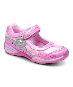 Take a look at this Pink Disney™ Wish Lights Aurora Light-Up Leather Mary Jane on zulily today!