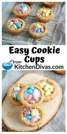 Easy Cookie Cups are the best cookie dough cups with or without chocolate chips this recipe makes a nest or bowl filled with of ice cream and more! Chocolate Chip Cookie Cups, Chocolate Chips, Cake Chocolate, Cookie Bowls, Cookie Dough, Cookie Recipes, Dessert Recipes, Bar Recipes, Incredible Recipes