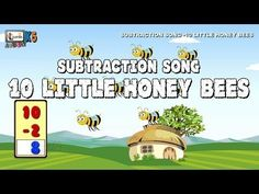 Subtraction Song - 10 Little Honey Bees | Learn subtraction for children | elearninacademyk5 - YouTube