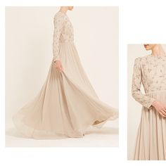 INAYAH | Graceful and feminine; the perfect choice for a bridesmaid or prom. Vintage Cream Embroidered Dress www.inayah.co
