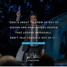 null    #Regram via @_joelosteen_fan_page Christian Motivation, Billy Graham, Joel Osteen, Christian Encouragement, Fan Page, Daily Bread, Motivational Quotes, Prayers, Blessed