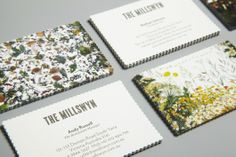 floral business cards // by Cornwell Lettering, Typography Design, Vintage Typography, Design Editorial, Miss Moss, Bussiness Card, Identity Design, Visual Identity, Brand Identity