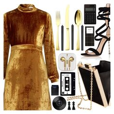 """""""Goldeneye"""" by floralandmay ❤ liked on Polyvore featuring A.L.C., Gianvito Rossi, Sambonet, iTouch, Tom Dixon, Muji and Driftwood"""