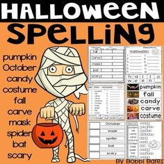 Halloween-Rechtschreibung - Everything TpT Resources Elementary - Halloween Special Education Activities, Word Work Activities, Hands On Activities, Classroom Activities, Learning Activities, Teaching Ideas, Halloween Activities, Holiday Activities, Thanksgiving Words