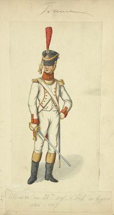 Officer 28th Line Infantry 1806-07.