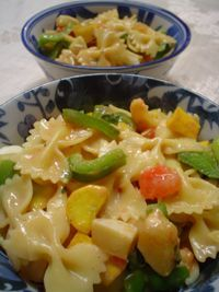 Summer primavera pasta. I used yellow squash and zucchini instead. Yummy recipe!