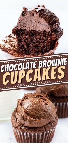 Chocolate Birthday Cake For Men, Chocolate Box Cake, Chocolate Brownies, Homemade Chocolate, Brownie Mix Recipes, Cake Mix Recipes, Cupcake Recipes, Cake Mix Cupcakes, Brownie Cupcakes