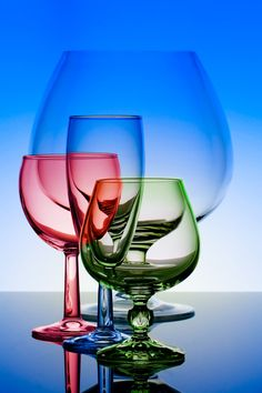 I like this image as there's different colour glasses which is interesting