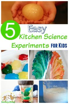 These Easy Kitchen Science Experiments for Kids are so fun and use supplies you already have! Kitchen science is the best science!
