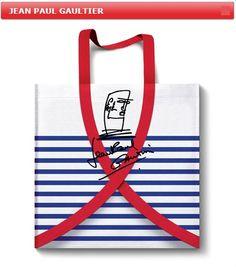 """Niet zomaar een tas van JPG, voor maar 5 euro heb je,  """"de Stop Aids Now ArtBag van Jean Paul Gaultier""""  Is online te verkrijgen en vanaf 9 feb, in Gaultier-shop bij de Bijenkorf en op 10 feb bij de Kunsthal te koop, ik heb het al gedaan, als jij het niet wilt geef hem dan cadeau ! Met die vijf euro help je """"Stop Aids Now"""" Help weeskinderen aan een beter leven. Doen dus ! . . . . (deel dit bericht)"""