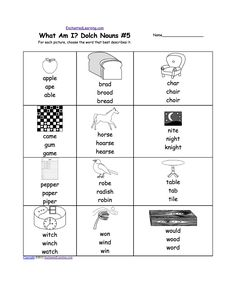 8th Grade Common Core Worksheets What Am I Dolch Nouns Worksheet Printouts  Enchantedlearningcom  Parallel Lines Geometry Worksheet Excel with Comma Worksheets 3rd Grade Excel Dolch Nouns Multiple Choice Spelling Words Spelling Worksheet With A  Picture And Multiple Choice Answers 3rd Grade Place Value Worksheets Free Word