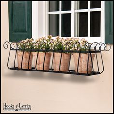 Heatherbrook Window Box Cage - Choose 8 Sizes If you are looking to revamp your home's exterior, perhaps a window box is just what you need. These assorted size Heatherbrook Window Box Cages will add a beautiful touch to your home, whether you mount it be Wrought Iron Window Boxes, Metal Window Boxes, Window Box Flowers, Flower Boxes, Iron Windows, Window Planter Boxes, Window Design, Decoration, Planting Flowers