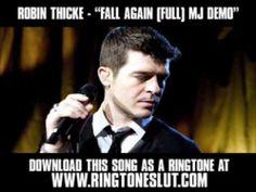 "▶ ROBIN THICKE - ""FALL AGAIN (FULL) MJ DEMO"" [ New Video + Lyrics + Download ] - YouTube"