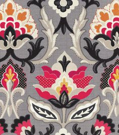 Create lovely projects with this elegant Home Décor Fabric. Flowing graceful floral design with vibrant colors. This design will easily complement any home décor theme you have at home.  Content: 100%                                                                                                                                                                                 More