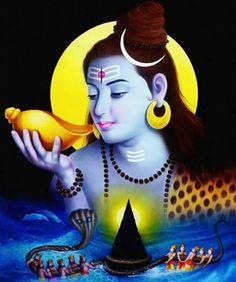 Shiva is Shakti, Shakti is Shiva. The silence of Lord Shiva is also a conversation. Shiva is a symbol of calm and peace. Alluring 'Lord Shiva Vishpaan Painting' by Indian artist 'Javed Hashmi' Shiva Art, Hindu Art, Mahakal Shiva, Bal Hanuman, Hanuman Hd Wallpaper, Shiva Shankar, Shiva Linga, Lord Shiva Family, Krishna Statue