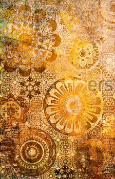 Golden Mandala.  Shutterstock.  http://www.shutterstock.com/pic-66150262/stock-photo-art-floral-ornamental-grunge-background-in-sepia-and-brown-colors.html?src=pp-same_artist-45775222-8