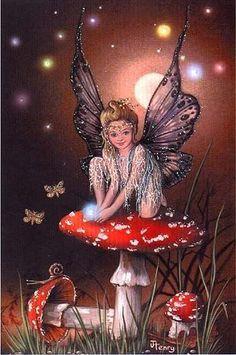 Mushroom fairy...#faerie #fairy #enchantment #fantasy #magic