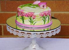 I got invited to a Morning Tea for all the mothers at my Kid's school and decided to make a quick cake to take along. Tulip Cake, Quick Cake, Cake Creations, Tulips, Mothers, Cakes, Desserts, Food, Tailgate Desserts