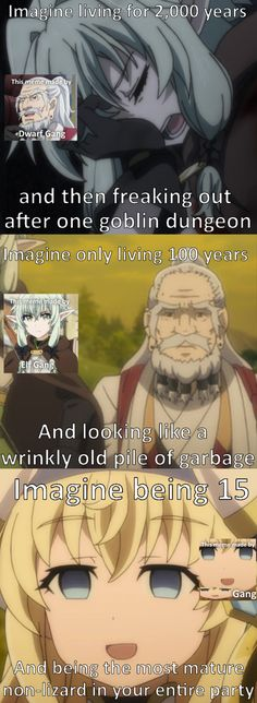"I can't get enough of the ""you get used to it"" face there are plenty more just click the image for more memes Anime Meme, Otaku Meme, Goblin Slayer Meme, Another Anime, Funny Games, Funny Comics, Really Funny, Funny Pictures, Jokes"
